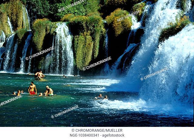 Croatia, Nord-Dalmatien, Naionalpark Krka Skradin