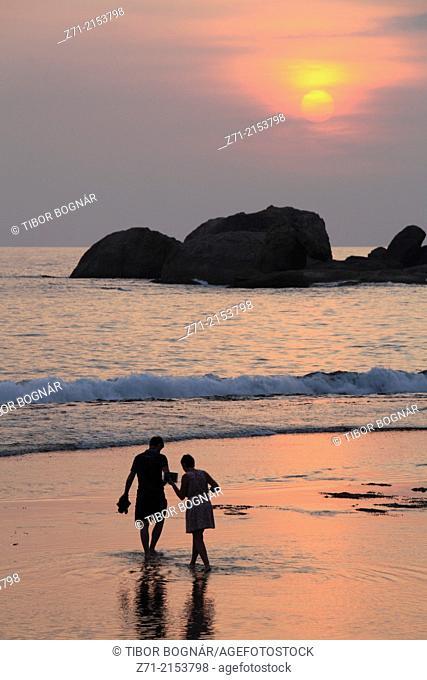 Sri Lanka, Hikkaduwa, beach, sunset,