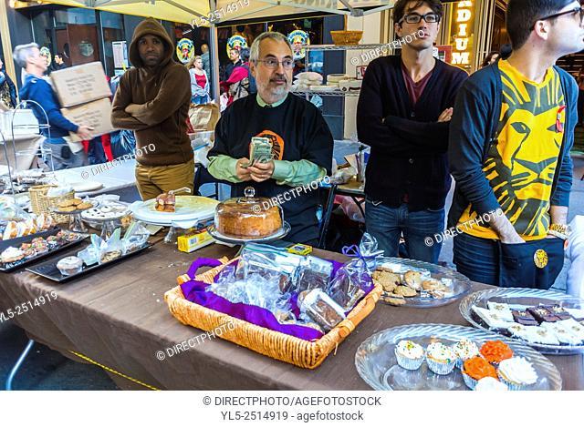 New York City, USA, People Shopping, Street Scenes, Hell's Kitchen, Theater Neighborhood, District, Flea Market