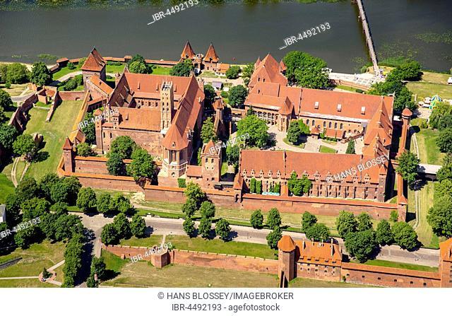 Malbork Castle, castle in brick Gothic, German Order, Nogat River, Malbork, Pomerania Province, Poland