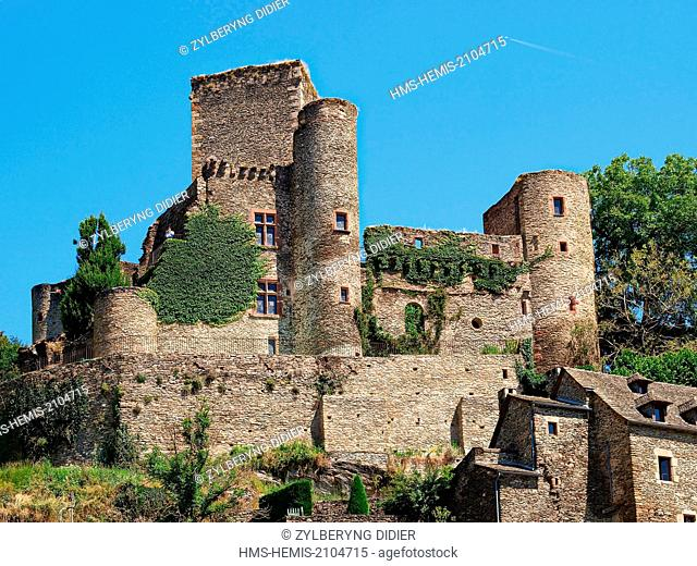 France, Aveyron, Belcastel, labeled Les Plus Beaux Villages de France (The Most Beautiful Villages of France), stop on El Camino de Santiago