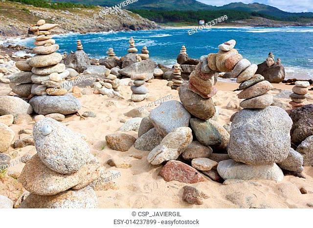 Beach near at Castro de Baro?a, La Coru?a, Galicia, Spain