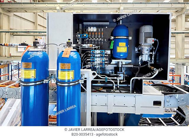 Hydraulic installation, Vertical lathe, Machining Center, CNC, Design, manufacture and installation of machine tools, Gipuzkoa, Basque Country, Spain, Europe