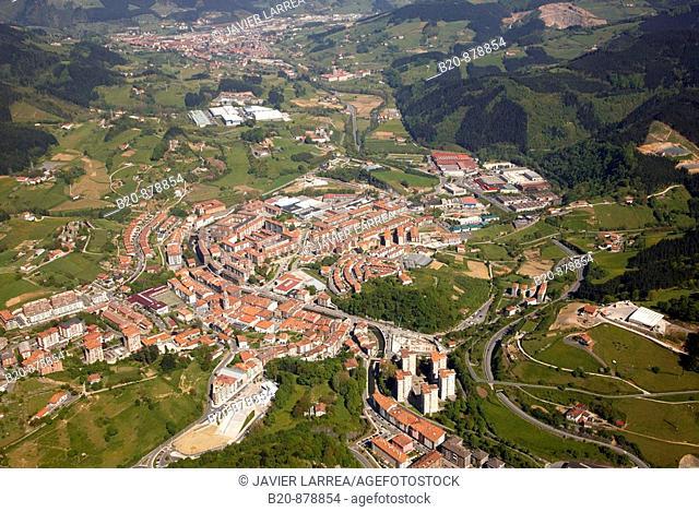 Azkoitia, Azpeitia in background, Guipuzcoa, Basque Country, Spain