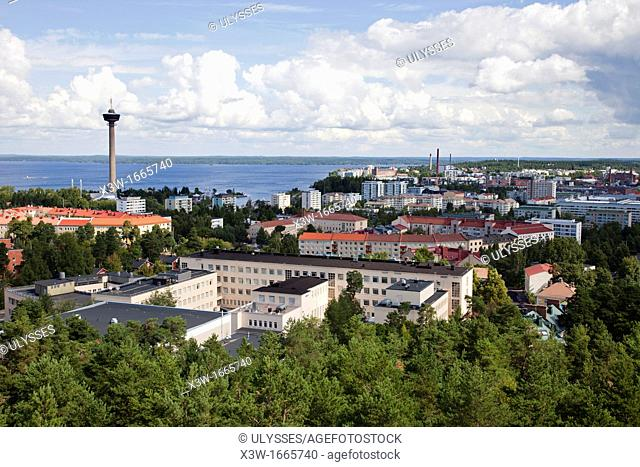 panoramic view from the observation tower, tampere, finland, europe