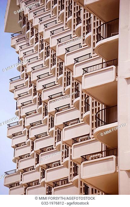 balconies, hotel, Honolulu, Hawai'i