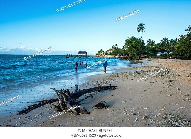 Sunset at the beach of Pigeon point, Tobago, Trinidad and Tobago, Caribbean