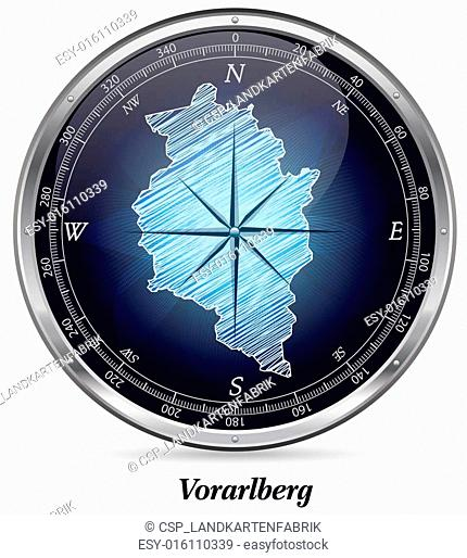 Map of vorarlberg with borders