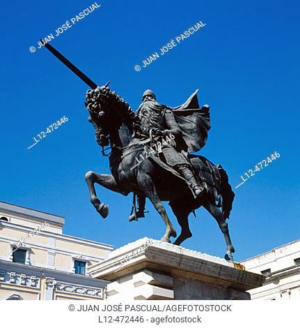 Monument to The Cid, Burgos. Ruta del Cid, Castilla-León, Spain
