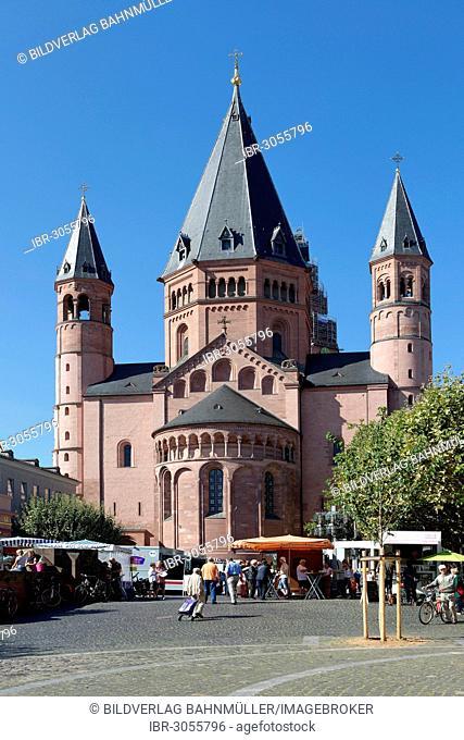 Mainz Cathedral, east facade, Mainz, Rhineland-Palatinate, Germany