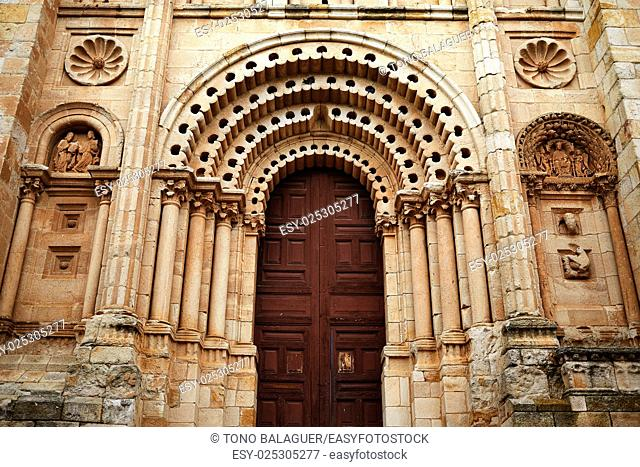 Zamora San Salvador cathedral in Spain by Via de la Plata way