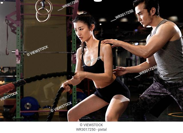 Coaches guide young women's fitness