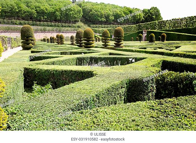 a view of a green labyrinth