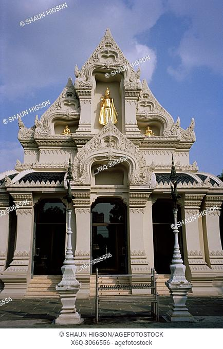 The ubosot of Wat Ratchatiwat in Dusit district of Bangkok in Thailand in Southeast Asia Far East