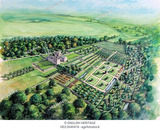 Hylton castle, early 18th century, (c1980-2010) Artist: Peter Dunn