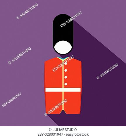 A Royal Guard icon in flat style on a violet background