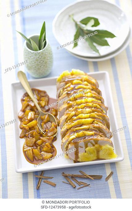 Roast pork with pineapple (Brazil)