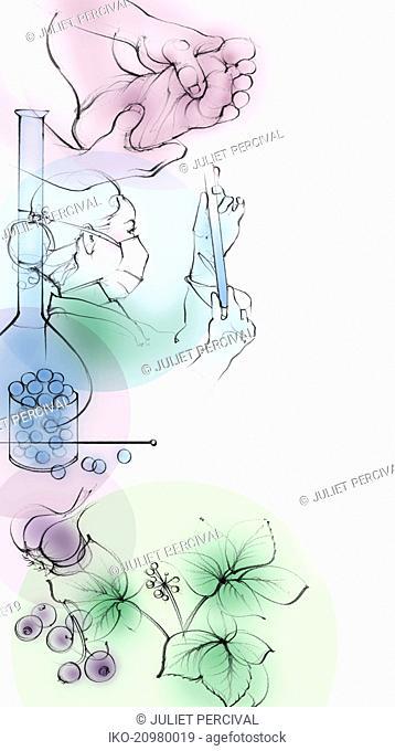 Montage of alternative medicine treatments