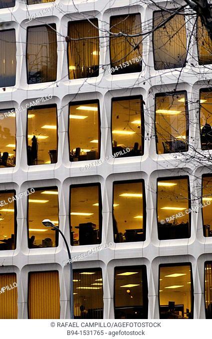 Office building. 16, Roger de Flor street, Barcelona, Catalonia, Spain
