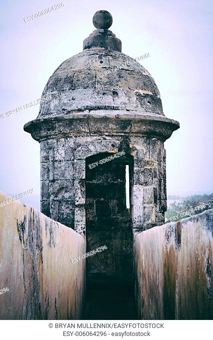 Fort San Felipe del Morro sentry box, Puerto Rico