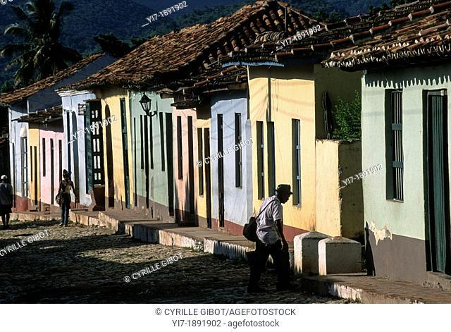 Cobblestone street in Trinidad, Cuba