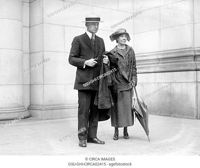 Republican Nominee for U.S. Vice President Charles Dawes and Wife Caro Dawes, Washington DC, USA, National Photo Company, July 1924