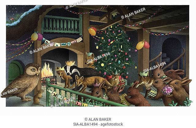 Animals at Christmas meeting