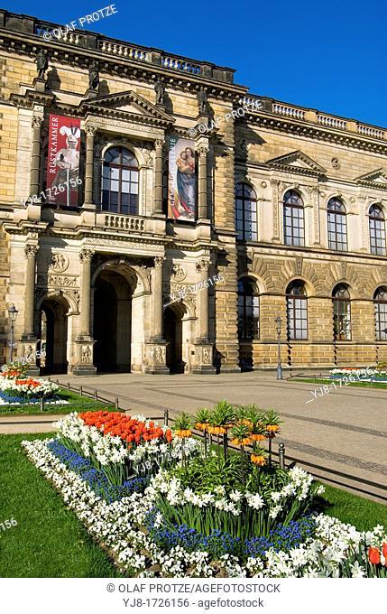 Gemaeldegallerie Gemäldegallerie Kunstsammlung inside the Zwinger, a landmark in Dresden the capital of Saxony, Germany