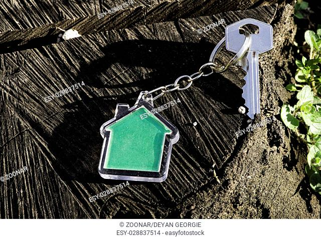 Keychain in a shape of house