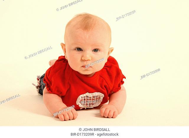 Studio portrait of baby girl