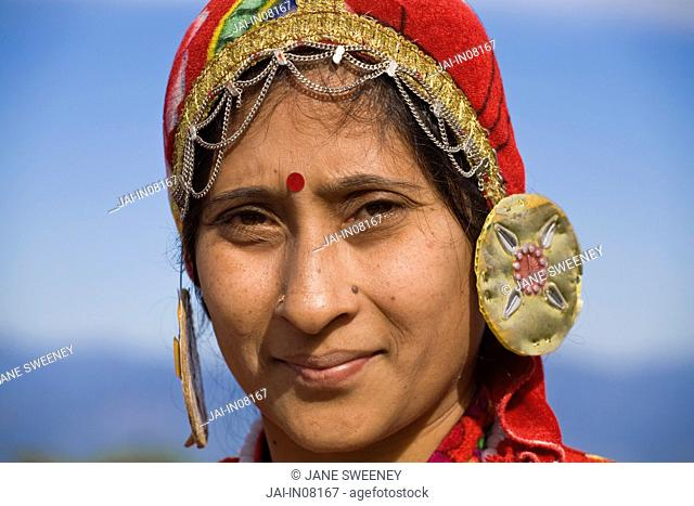 India, West Bengal, Darjeeling, Local woman