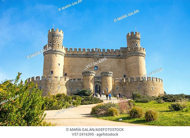 Facade of the castle. Manzanares El Real, Madrid province, Spain