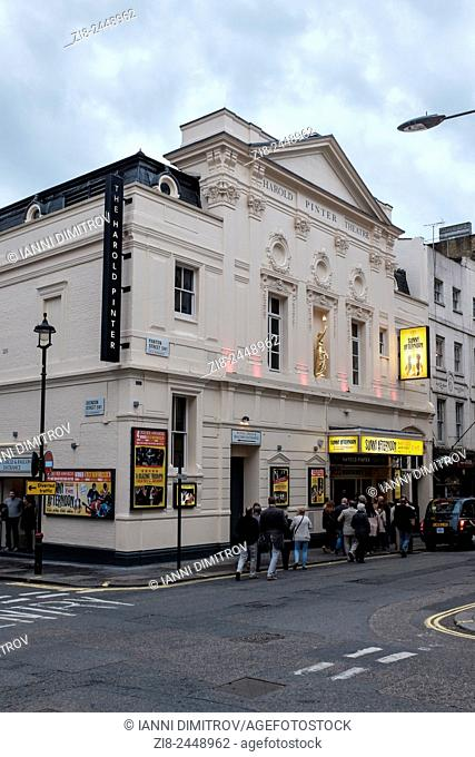 People queing up for matinee performance,The Harold Pinter Theatre,Panton Street,London