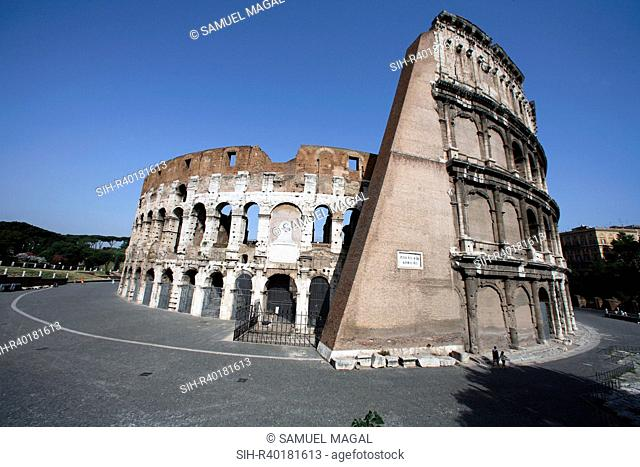 The Coliseum, or Colosseum, is an elliptical amphitheater in the center of Rome. Built between 70-80 AD, it was used for gladiatorial shows and public...