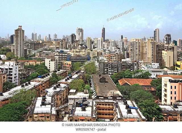 aerial view of mumbai central , Bombay Mumbai , Maharashtra , India