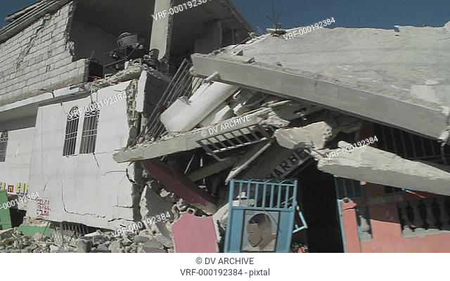 Destruction following the massive earthquake in Haiti