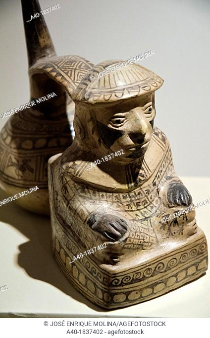Ceramic vessel  Chimú culture 1100 AD- 1470 AD  Perú