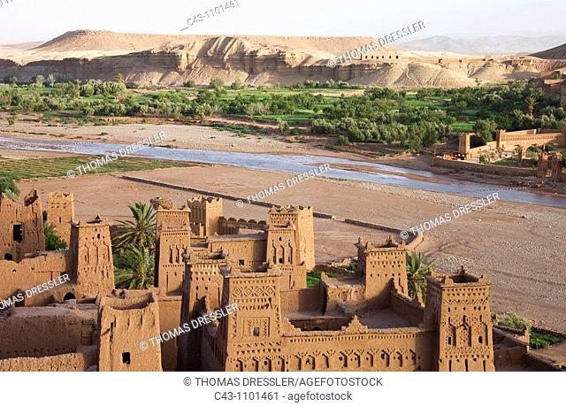 Morocco - The world-famous kasbahs = fortress at Aït Benhaddou just south of the High Atlas mountains and near the town of Ouarzazate are under the auspices of...