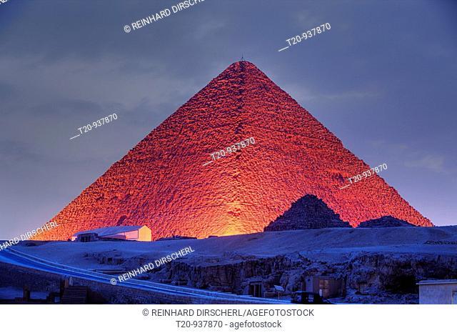 Light and Sound Show at Pyramids of Giza, Cairo, Egypt