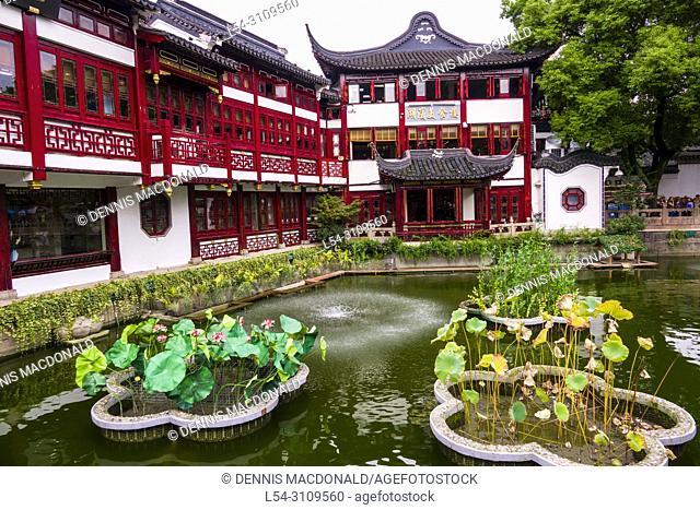 Yuyuan Gardens Old City Shanghai China Asia shopping area