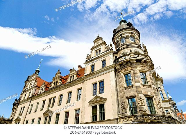 Baroque Architecture in the Old Town of Dresden, Saxony, Germany