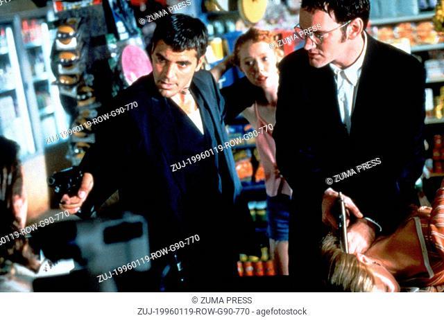 Jan 19, 1996; Los Angeles, CA, USA; Actor GEORGE CLOONEY stars as Seth Gecko alongside QUENTIN TARANTINO as Richard Gecko in 'From Dusk Till Dawn