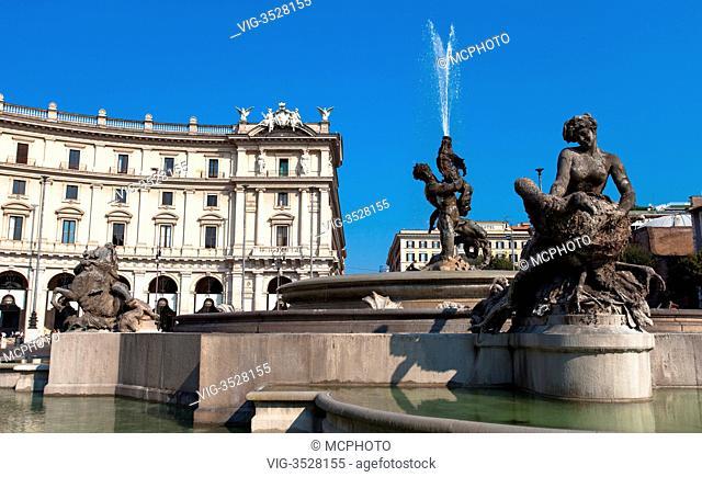 Fontana delle Naiadi, Rome, Italy - 02/05/2009