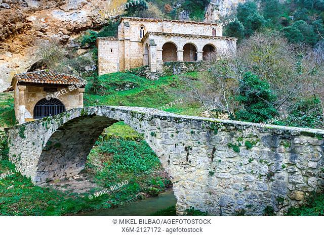 Tobera. Santa Maria de la Hoz shrine. Frias. Burgos, Castile and Leon. Spain, Europe