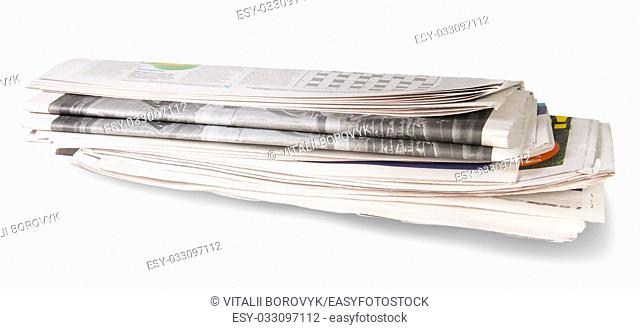 Rolled Of The Newspaper Isolated On White Background