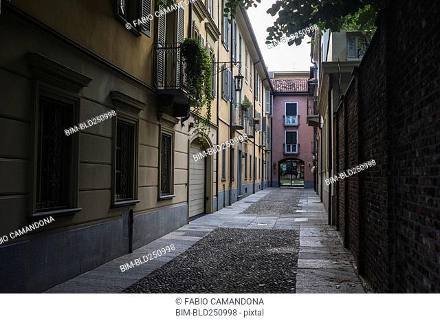 Empty urban alley