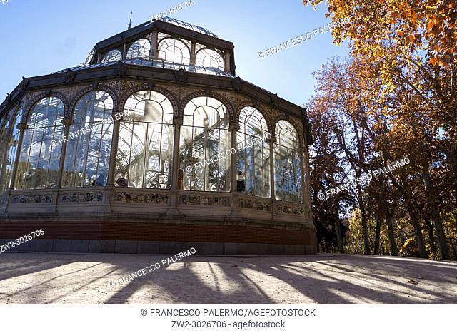 Crystal Palace in Retiro Park. Madrid. Spain