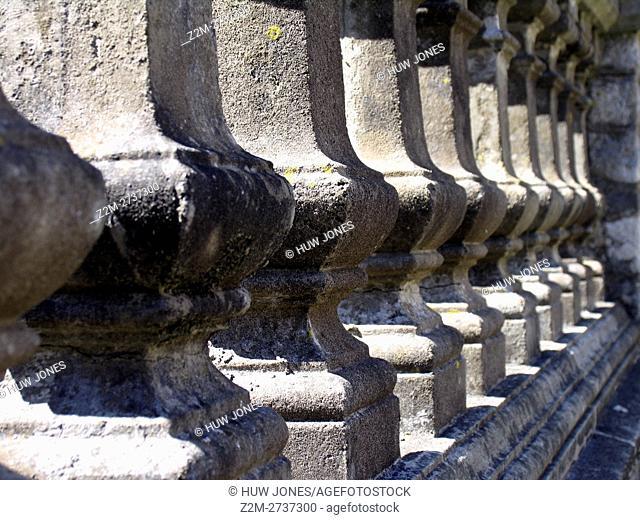 Stone pillars, balustrade