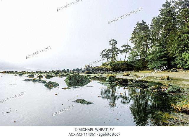 Hiker, East Sooke Regional Park, Vancouver Island, British Columbia, Canada