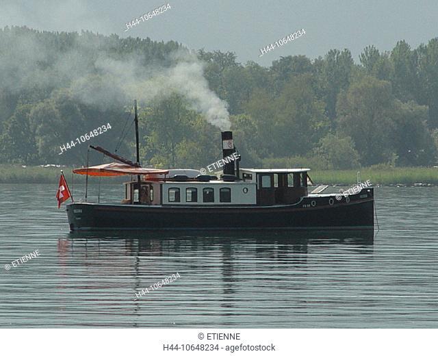 10648234, boat, steamboat, steamboat, lake Geneva, Lac Leman, nostalgically, ship, Switzerland, Europe, lake, sea, Vulcania, V
